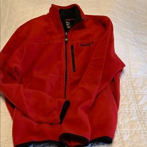 Timberland red fleece jacket size M